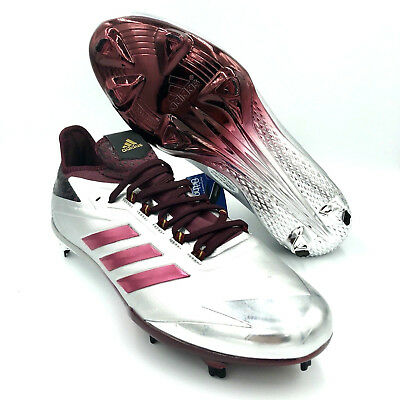 0ed6ed23ef0 Adidas Adizero Afterburner 4 Maroon Silver Baseball Cleats  BY3679  Multi  Size