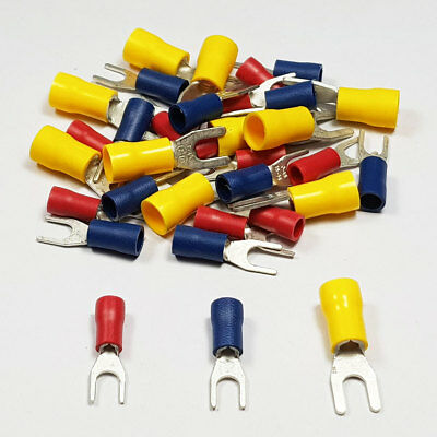 Insulated Fork Terminals Connector Terminal Crimp Electrical BULK Listing