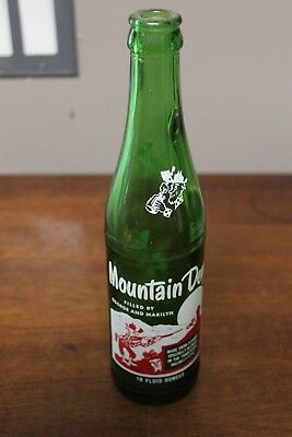 Vintage Hillbilly Mountain Dew bottle with Filled by name George and Marilyn pop