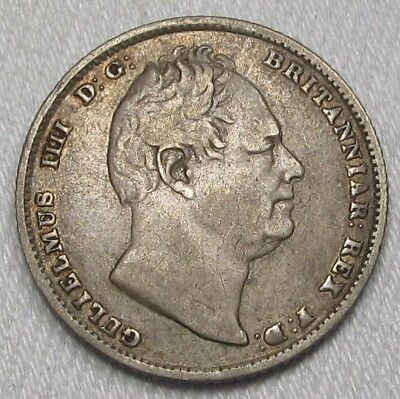 1834 Great Britain Sixpence .925 Silver VF Coin AG430