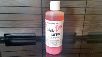 Airbrush-Tattoos-Farb - Totally Tattoo Really red -