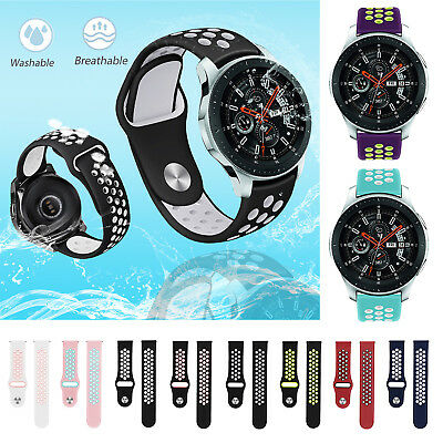 Silicone 20mm Porous Watch Band Bracelet Strap for Samsung Galaxy 42mm Watch