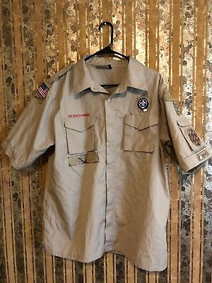 Boy Scouts Of America Shirt Size Adult Large.         Q