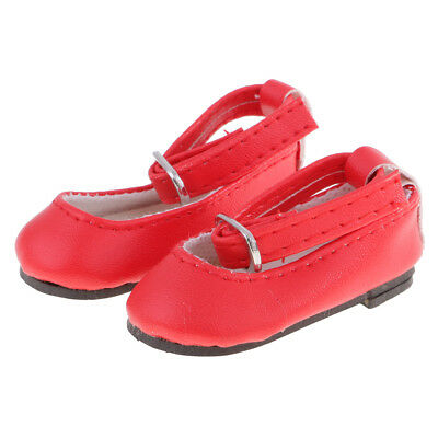 Lovely Red PU Leather Ankle Strap Shoes Casual Shoes for 16inch/ 40cm Doll