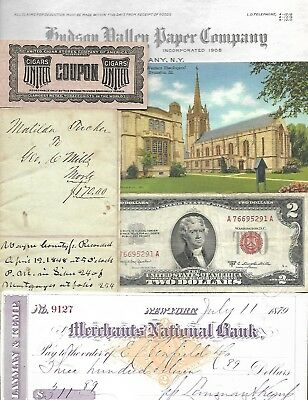 HUGE World Paper Document Lot: 72 items w/20 banknotes