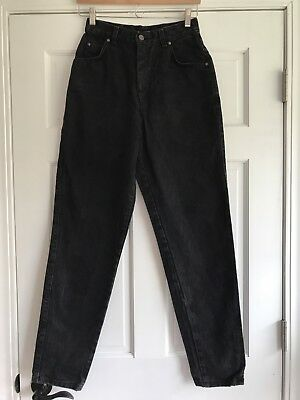 Levis Vintage Tapered Leg High Waist Mom Jeans Faded Black Womens Size 9