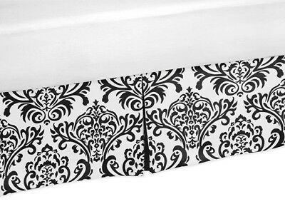 Sweet Jojo Designs Black White Isabella Girls Kids Queen Size Bedding Bed Skirt
