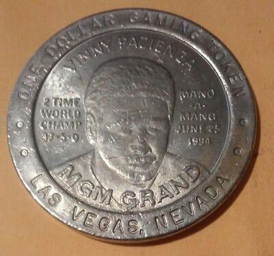 Mgm Grand Casino Las Vegas Nv. Vinny Pazienza $1.00 Token Great For Collection