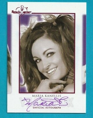 2018 Benchwarmer Hot For Teacher MARIA KANELLIS YEARBOOK PINK AUTOGRAPH
