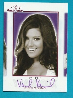 2018 Benchwarmer Hot For Teacher VAL KEIL YEARBOOK PINK AUTOGRAPH