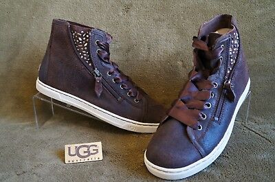 24784e9e9ef UGG BLANEY CRYSTALS Chocolate Leather Women Sneakers, Sz 9.5 ...