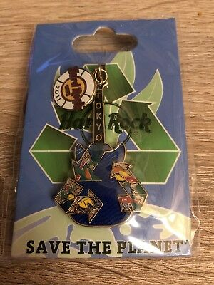 HRC Hard Rock Cafe Tokyo Pin Safe The Planet NEW!!!