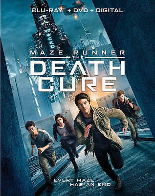 Maze Runner: The Death Cure Blu-ray + DVD + Digital copy Slipcover Brand New