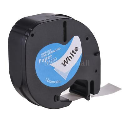 Paper Label Tape Refills 12mm*4m Compatible for DYMO LetraTag Label Makers R9O4