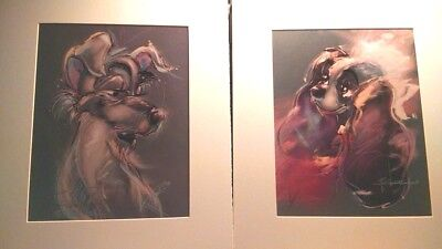 Lady & The Tramp set of Prints Signed By Disney Legend Artist Eric Robison