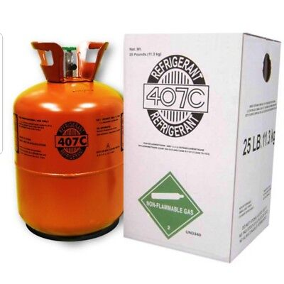 R407C-Refrigerant 25 Pound 407C FACTORY SEALED with oil