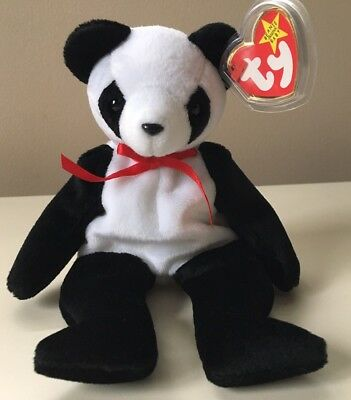 Ty Beanie Baby FORTUNE Panda Bear Retired. New. Errors On Tags.