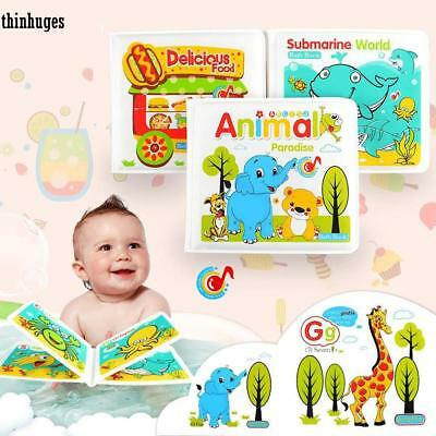 Baby Bath Books Plastic Coated Fun Educational Toys For Children