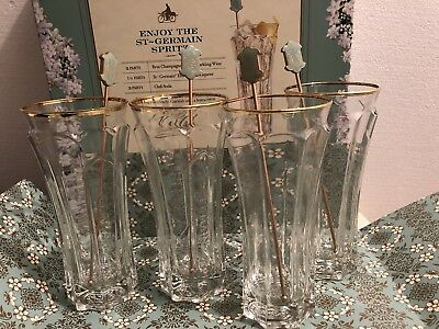 St Germain glasses Set Of 4 New