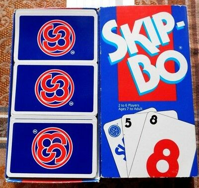 Vintage 1993 Skip Bo Family Card Game Complete Instructions