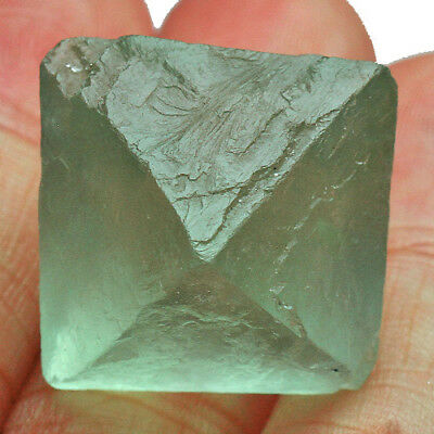 69.3Ct 100% Natural Rare Octahedral Green Fluorite Crystal Specimen UBVU-T380