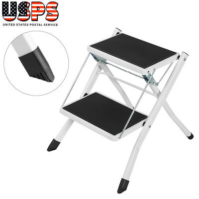 Multi Purpose Portable 2 Step Ladder Folding Non Slip Heavy Duty Industrial Home