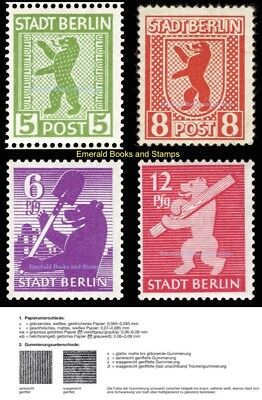 EBS Germany 1945 SBZ Berlin Bear Berliner Bär Michel SBZ1,2,3,5uv MNH**