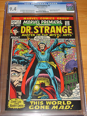 MARVEL PREMIERE #3 - CGC 9.4 NM (Doctor Strange Series Begins ; Off-White Pages)