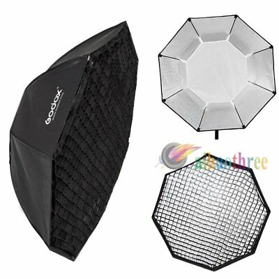 Godox 95cm Octagon Bowens Mount Softbox Octabox W/ Grid For Strobe Flash Studio