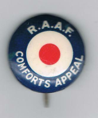 Ww2 R.a.a.f. Comforts Appeal Tin Badge