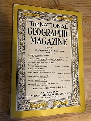 Vintage National Geographic Magazine 1940 Number Six Coca Cola Advert
