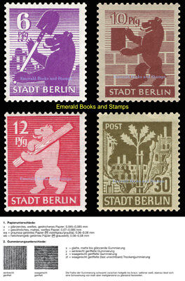 EBS Germany 1945 SBZ Berlin Bear Berliner Bär Michel SBZ 2,4,5,7 wa z MNH**