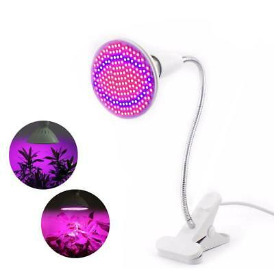 12W 85-265V E27 200LED Plant Grow Light Lamp Bulb For Indoor Plants With Clip MT
