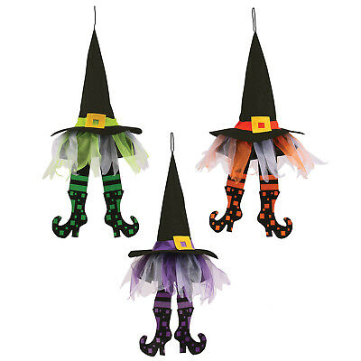 24in Halloween Wicked Witch Hats with Legs Hanging Hag Party Decoration