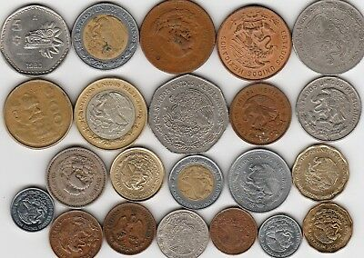 22 different world coins from MEXICO some scarce