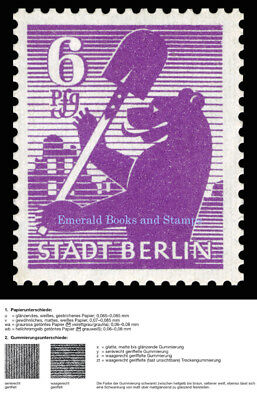 EBS Germany 1945 SBZ Berlin Bear Berliner Bär Michel SBZ 2 wb zt MNH**