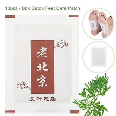 10pcs Detox Foot Patches Pads Body Toxins Feet Cleansing Herbal Patch Sticky Set