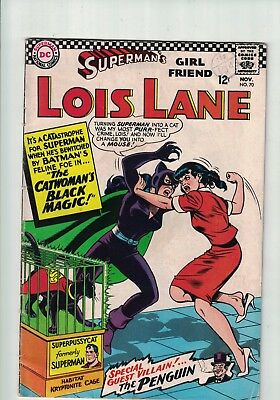 DC Comics Superman's Girl Friend Lois Lane # 70 Nov 1966 1st Silver Age Catwoman