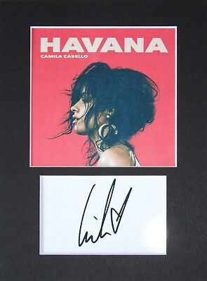 Camilla Cabello signed printed autograph photo print mounted gift display #C