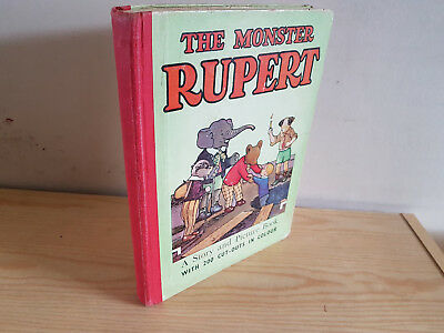 MONSTER RUPERT - Mary Tourtel - 200 cut-outs - good