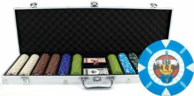 Claysmith Gaming 600-Count 'Rock & Roll' Poker Chip Set in Aluminum Case, 13.5gm