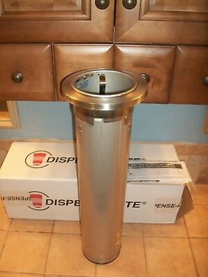 "Dispense-Rite ADJ-2F 22"" S/S Stainless Steel In-Counter Cup Dispenser"