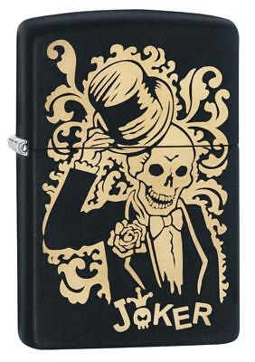 BRIQUET ZIPPO ESSENCE NEUF - JOKER SKULL NOIR - Original , Tempete , Collection