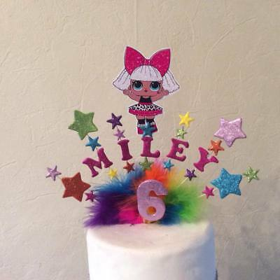 Lol doll cake topper made with your choice of name and age and character