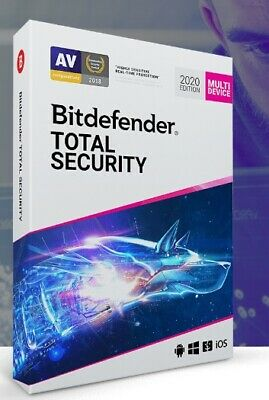 Bitdefender Total Security 2020 | 5 Devices | 6 Months Activation Key Code
