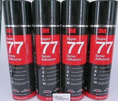 3M Super 77 Multi Purpose Adhesive Glue Spray 467g Strong Adhesive 1-4 Cans