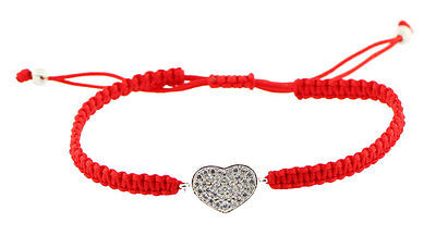 Kabbalah Red String Bracelet with Heart - Protection Luck