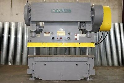 "Wysong 150-6 150 Ton x 8' Mechanical Press Brake, 1/4"" Cap., Air Clutch"