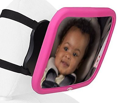 Nuby Back Seat Baby View Mirror, Pink New