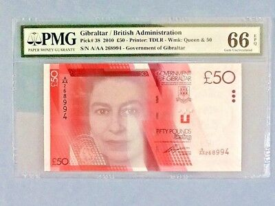 Gibraltar P-38; 50 Pounds; 2010; PMG Graded 66 EPQ